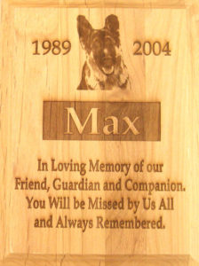Laser Engraved Pet Memorial Plaque