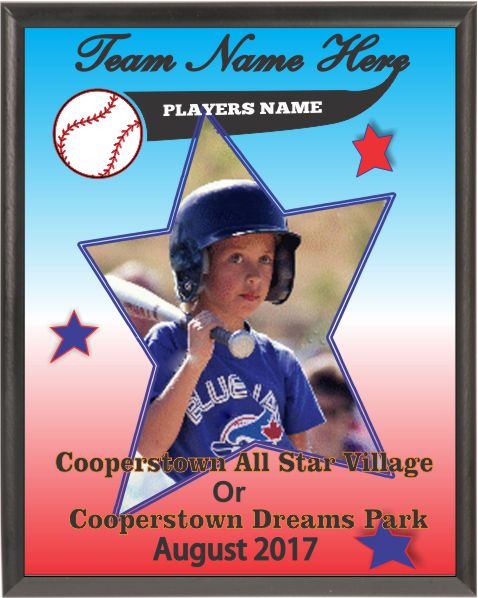 Personalized baseball award plaque