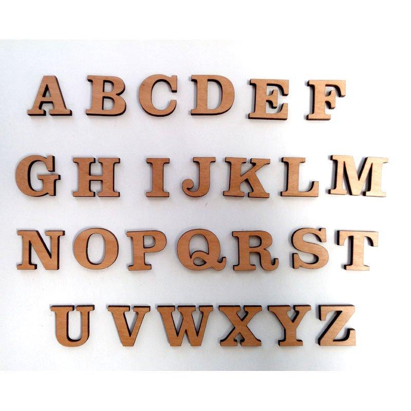 Wood Craft Letters, Whole Alphabet in Clarendon BT Font