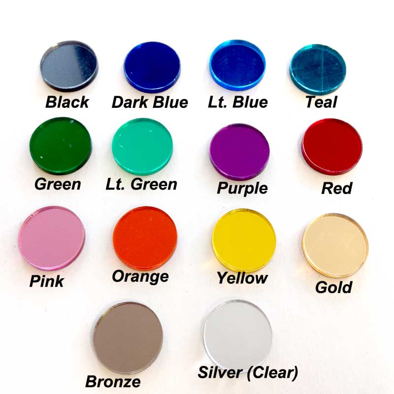 Color Palette For Mirror Acrylic Products