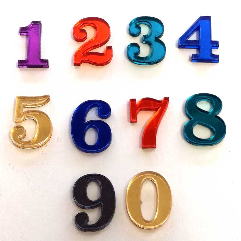 Acrylic Mirror Craft Numbers. Perfect for any craft project.