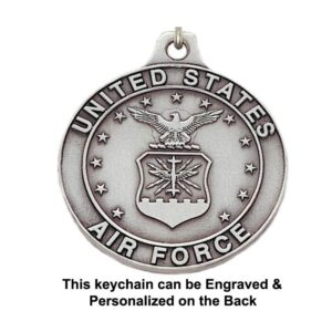 US Airforce Engravable Keychain
