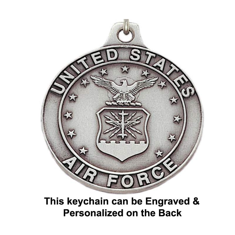 Engravable US Airforce Keychain