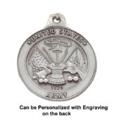Engravable US Army Keychain