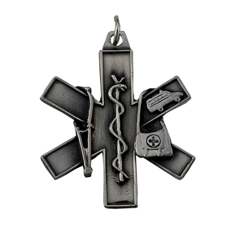 EMT & EMS Star of Life Keychain