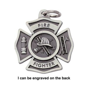 Firefighter Engravable Keychain