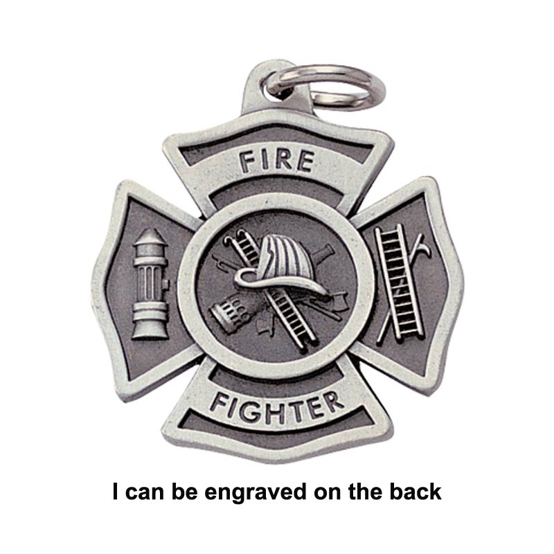 Engravable Firefighter Keychain