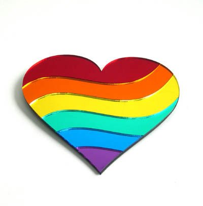 Rainbow Heart Wall Plaque