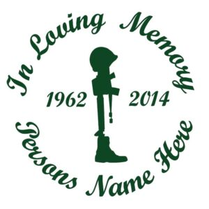 In Memory of a Lost Soldier Car Decal