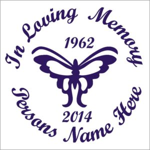 In Loving Memory Butterfly Car / Wall Decal