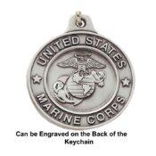 Engravable US Marine Corps Keychain