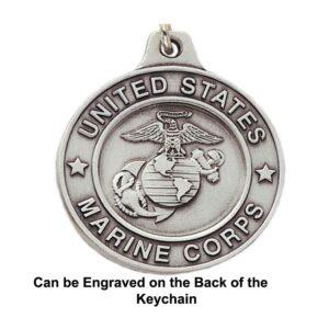 US Marine Corps Engravable Keychain