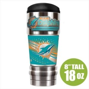 Miami Dolphins Insulated 18oz Stainless Travel Mug