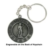 Engravable Army National Guard Keychain