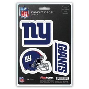 New York Giants Car Decals & Bumper Stickers 3pk