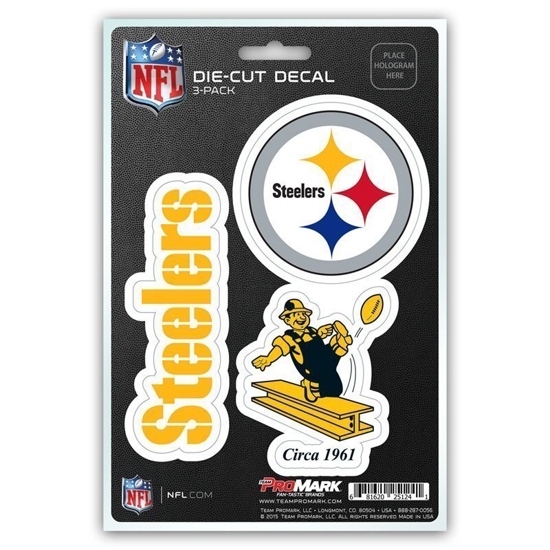 Pittsburgh Steelers Car Decals Bumper Stickers 3pk