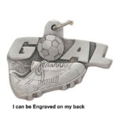 Engravable Soccer Goal Keychain