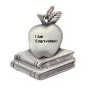 Engravable Teachers Apple Keychain