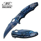 Master Collection MC-A037BL Blue Titanium Dragon Pocket Knife