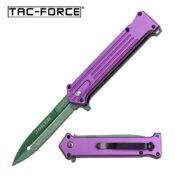 Tac-Force TF-457PGN Purple Joker Knife with Green Blade