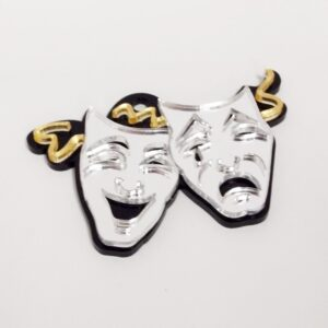 Comedy Tragedy Drama Engravable Keychain