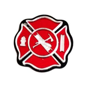 Firefighter Maltese Cross Engravable Keychain