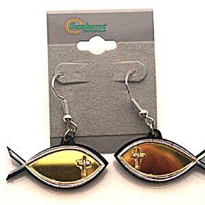 Christian Fish Acrylic Earrings