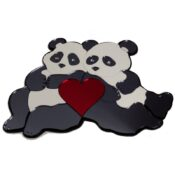 Pandas with Heart Engravable Wall Decor