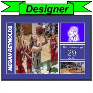 Custom 3 Photo Sports Award Plaque
