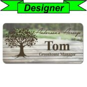 Create Your Own Sublimated Full Color Employee Name Tag With Pictures
