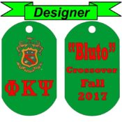 Double Sided Custom Greek Letter Dog Tag Designer