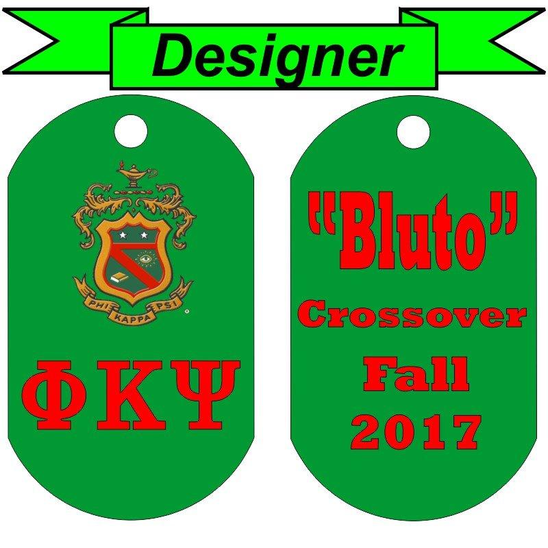 Double Sided Custom Greek Letter Dog Tag Designer