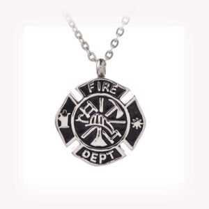 Fire Department Necklace Memory Urn