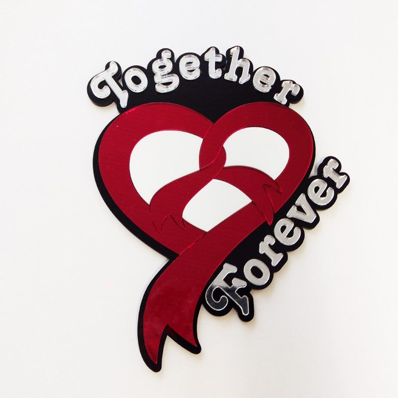 Heart Together Forever Personalizable Wall Decor