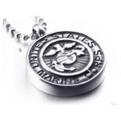 Marine's Memory Urn Stainless Necklace