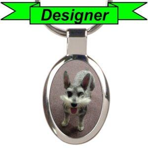 Custom Oval Photo Keychain