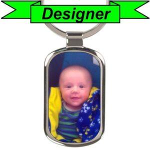 Custom Rectangular Photo Keychain