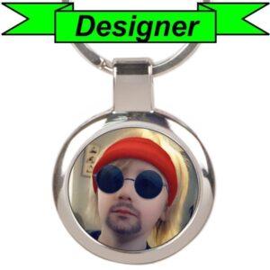 Custom Round Photo Keychain