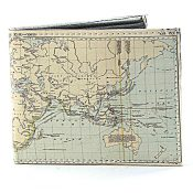 Billfold Men's Vegan Leather World Map SBVL 532