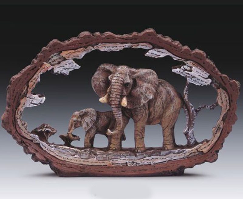 Elephant W. Baby In Frame SBES 715