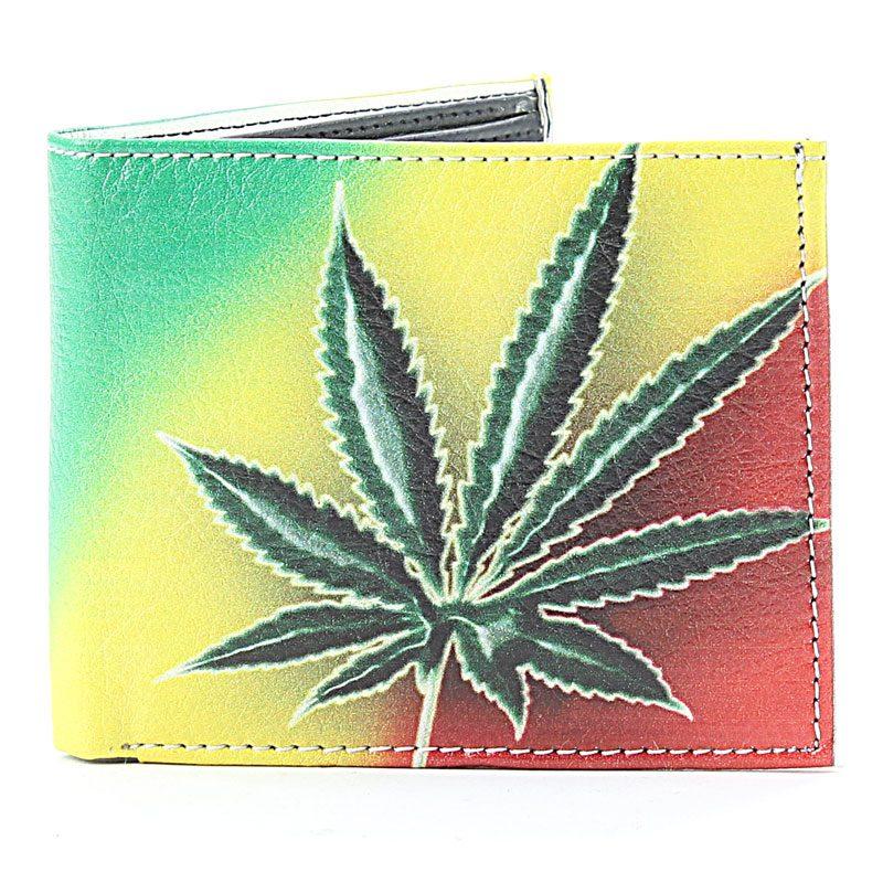 Men's Vegan Wallet Rasta Leaf SBVL 5286