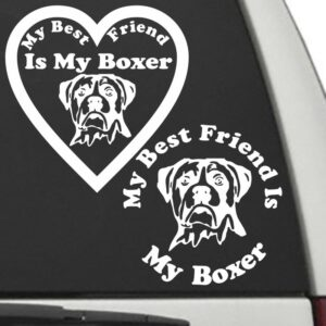 Boxer Uncropped – My Best Friend Is My Dog Decal