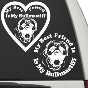 Bullmastiff – My Best Friend Is My Dog Decal