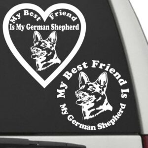 German Shepherd – My Best Friend Is My Dog Decal