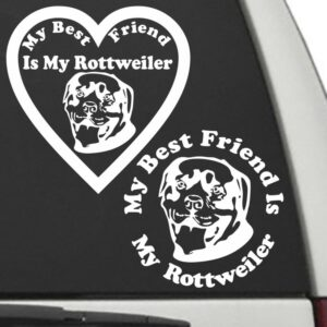 Rottweiler – My Best Friend Is My Dog Decal