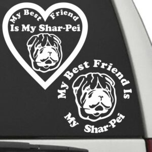 Shar Pei – My Best Friend Is My Dog Decal