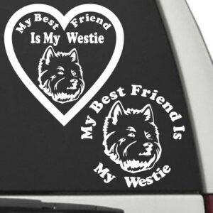 Westie – My Best Friend Is My Dog Decal