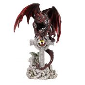 Red Dragon On Celtic Cross SB71600