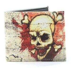 Skull & Bones Vegan Wallet