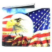 Vegan Billfold Eagle On American Flag SBVL 507
